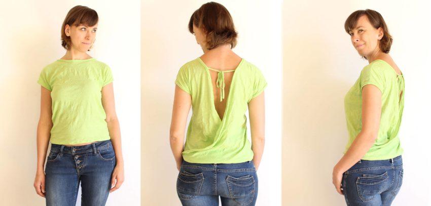 Shirt mit lockerem Rückenausschnitt | einfach nähen