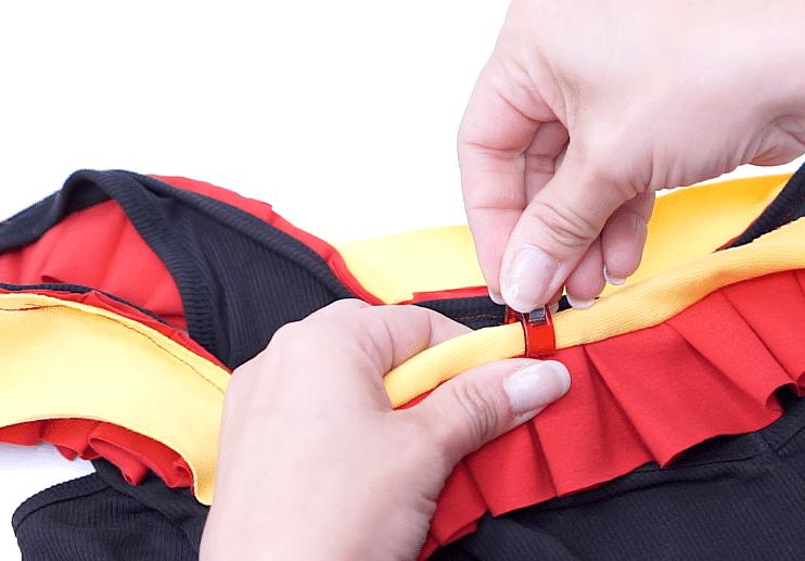 einseitige Streifenversäuberung mit Schrägband | einfach nähen