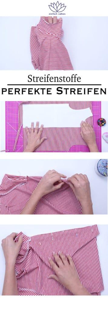 Streifenstoffe | Streifen treffen perfekt aufeinander | einfach nähen lernen - Tipps und Tricks rund um Nähen für Anfänger und Fortgeschrittene