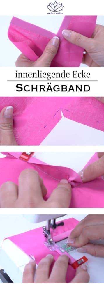 innenliegende Ecke mit Schrägband einfassen | einfach nähen lernen - Tipps und Tricks rund ums Nähen für Anfänger und Fortgeschrittene