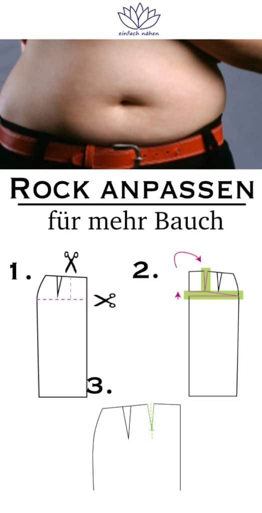 Rock anpassen bei dickem Bauch |einfach nähen lernen - Tipps und Tricks rund ums Nähen für Anfänger und Fortgeschrittene