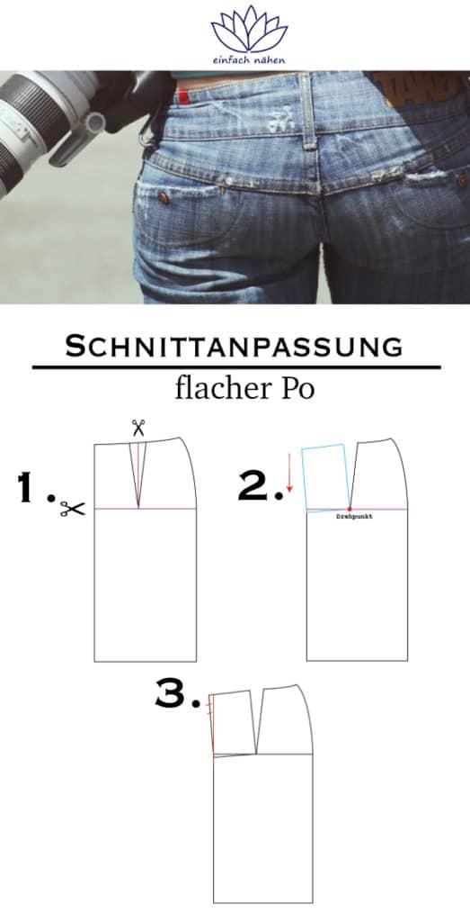 flacher Po |einfach nähen lernen - Tipps und Tricks rund ums Nähen für Anfänger und Fortgeschrittene